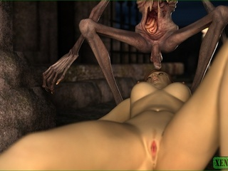 Skinny alien fucks a beautiful busty chick - Picture 5