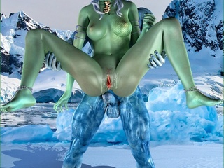 Iceman fucking a green slut with so much passion - Picture 4