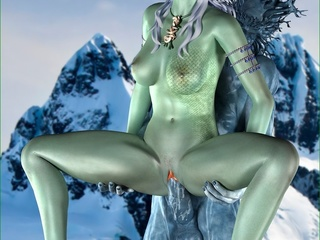 Iceman fucking a green slut with so much passion - Picture 5