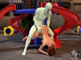 Well hung clown bangs a slut on the playground - Picture 2