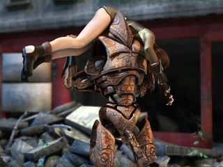 Horny robot fucks a slender brunette chick so hard - Picture 1