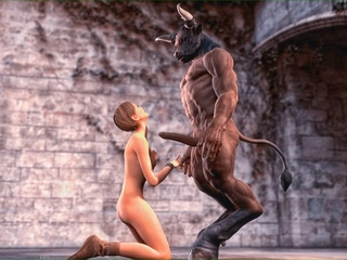 Horny centaur fucks a brunette gal with so much - Picture 2