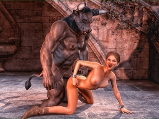 Horny centaur fucks a brunette gal with so much - Picture 5