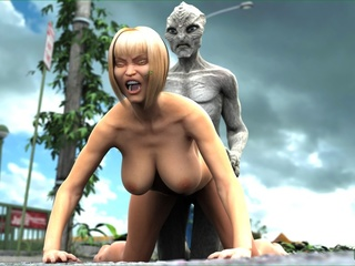 Blonde slut with big boobs sucks a dick and - Cartoon Sex - Picture 3