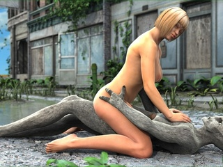 Blonde slut with big boobs sucks a dick and - Cartoon Sex - Picture 5
