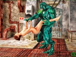 Green monster fucks his human slave so damn - Cartoon Sex - Picture 4