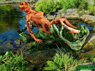 Well endowed swamp dude fucks a beautiful inked lady - Picture 3
