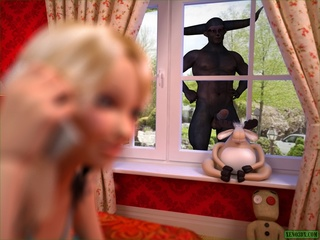 Huge black pecker for a petite blonde darling - Cartoon Sex - Picture 1