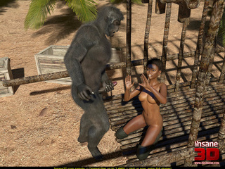 Short haired ebony model gets rammed by a - Cartoon Sex - Picture 3
