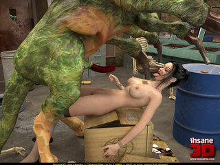 Well endowed green monster fucks a sluts and cums so - Picture 3