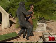 hung gorilla enjoys tight