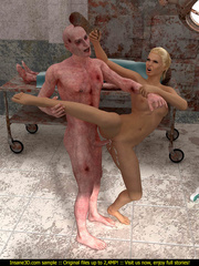 Super hot blondie gets rammeed in the morgue so hard - Picture 3