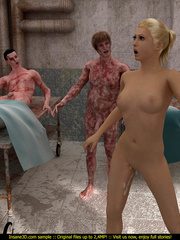 Super hot blondie gets rammeed in the morgue so hard - Picture 4