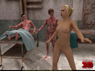 Horny zombies are ready to fuck this blonde - Cartoon Sex - Picture 4