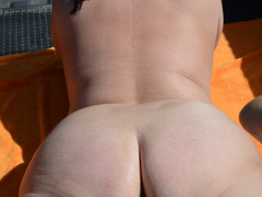Hot big booty mature bitch poses doggy like a whore - Picture 8