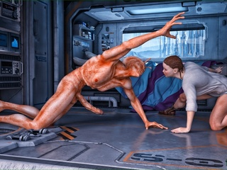 Well endowed alien giving so much joy to his - Cartoon Sex - Picture 1