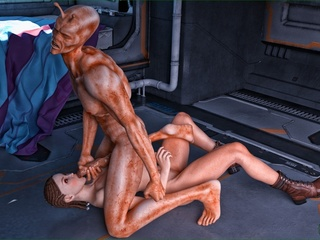 Well endowed alien giving so much joy to his - Cartoon Sex - Picture 2