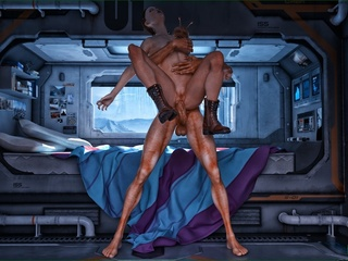 Well endowed alien giving so much joy to his - Cartoon Sex - Picture 3