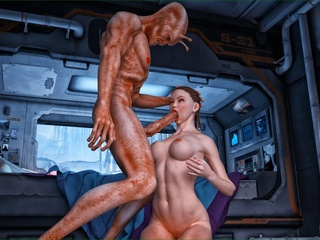 Well endowed alien giving so much joy to his - Cartoon Sex - Picture 5