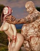 Magnificent elf slut gets her tight pussy destroyed