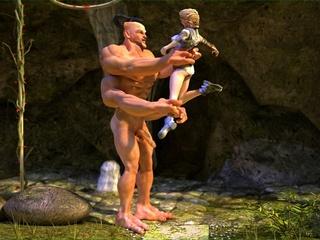 Giant devilish creature fucking a small - Cartoon Sex - Picture 1