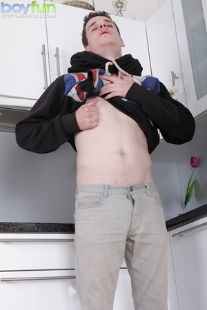 British twink fingers his asshole and jerks his small cock - XXXonXXX - Pic 2
