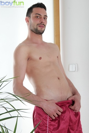 Gorgeous rugby player Lukas Novy strokes his beautiful dick into his sock - XXXonXXX - Pic 4