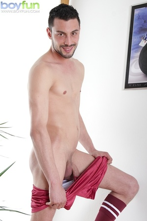 Gorgeous rugby player Lukas Novy strokes his beautiful dick into his sock - XXXonXXX - Pic 7