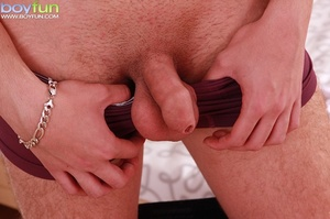 Martin Stanley spreads his hairy ass then cums all over his stomach - XXXonXXX - Pic 5