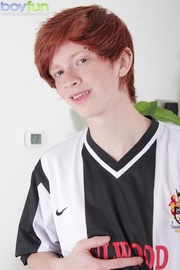adorable ginger soccer player