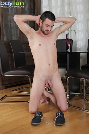 Delicious preppy Lukas Novy strokes his small dick and spreads his tight ass - XXXonXXX - Pic 8