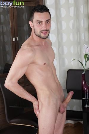 Delicious preppy Lukas Novy strokes his small dick and spreads his tight ass - XXXonXXX - Pic 10