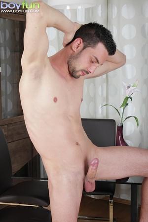 Delicious preppy Lukas Novy strokes his small dick and spreads his tight ass - XXXonXXX - Pic 11