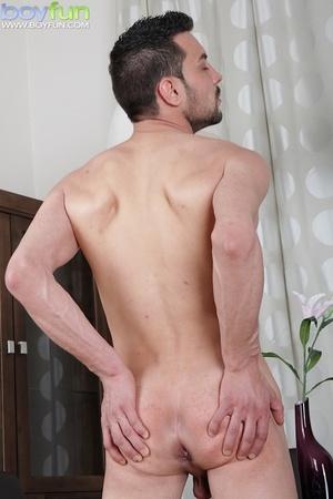 Delicious preppy Lukas Novy strokes his small dick and spreads his tight ass - XXXonXXX - Pic 14