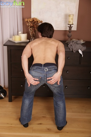 He loves to work out, but his jeans get too tight so he decides to chill out - XXXonXXX - Pic 3