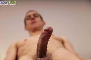 Thin dude shows you his thick cock and flashes his derriere - XXXonXXX - Pic 15