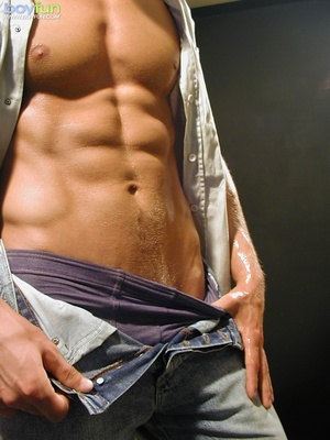 Shaven blonde dude with nice abs poses so hot and  pulls down pants - XXXonXXX - Pic 6