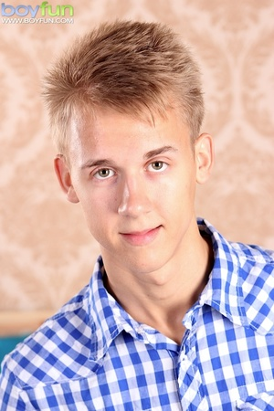 Cute blonde boy with innocent smile spreads his cheeks and show off his hole - XXXonXXX - Pic 2