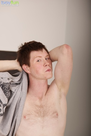 Pale gay with hairy chest flashes his sweet yummy crap hole - XXXonXXX - Pic 4