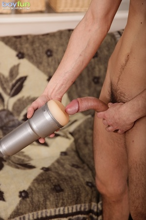 Use anything at your disposal to yank your juicy, hard cock - XXXonXXX - Pic 14