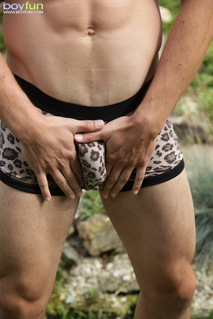This amazing rascal enjoys outdoor fun and wants a thick stick in his anus - XXXonXXX - Pic 8