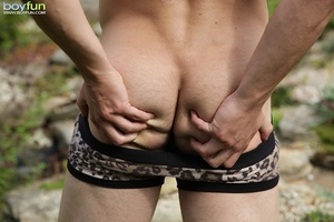 This amazing rascal enjoys outdoor fun and wants a thick stick in his anus - XXXonXXX - Pic 10