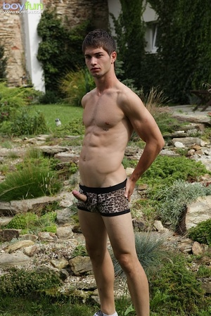This amazing rascal enjoys outdoor fun and wants a thick stick in his anus - XXXonXXX - Pic 15