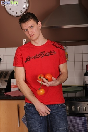 He got dirty and horny right in the kitchen and unloads cum for you - XXXonXXX - Pic 2