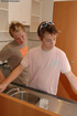 Young gay couple make out on the kitchen table and…