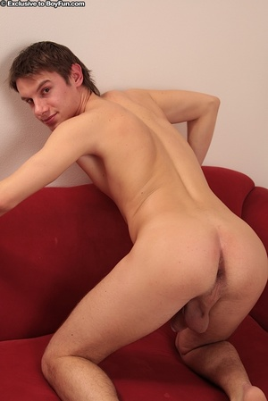 Twisting his nipples makes this young gay guy feel hot - XXXonXXX - Pic 14