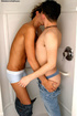 Two horny guys have steamy sex in their own shower