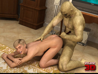 Beautiful blonde enjoys in this huge monster - Cartoon Sex - Picture 3