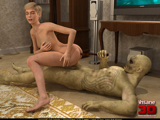 Beautiful blonde enjoys in this huge monster - Cartoon Sex - Picture 4
