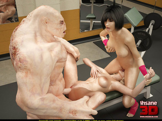 Horny human whores getting nailed in the gym - Cartoon Sex - Picture 2